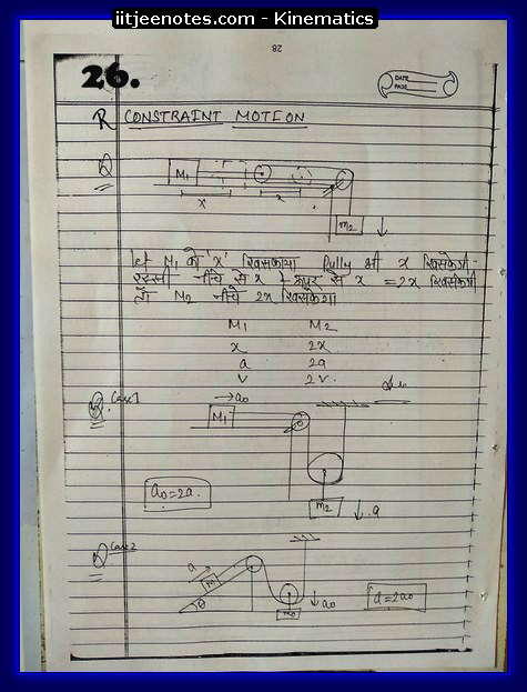 kinematics notes cbse9