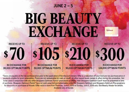Murale Big Beauty Exchange Spend Your Optimum Points