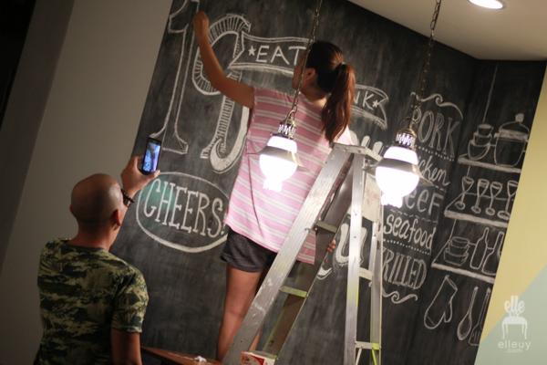 DIY chalkboard art, chalkboard restaurant