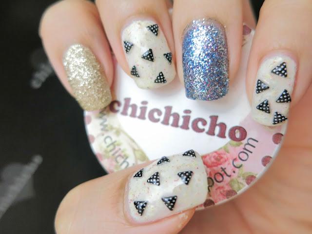 Polka Dot Triangle Studs Nail Art Born Pretty Store Review - chichicho~