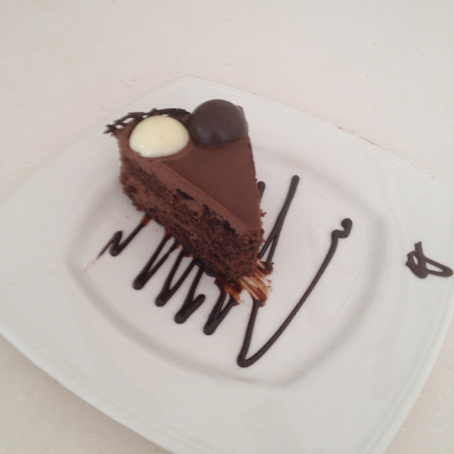 Double chocolate ecstasy cake at Butterbean Desserts and Café in Cebu City Philippines