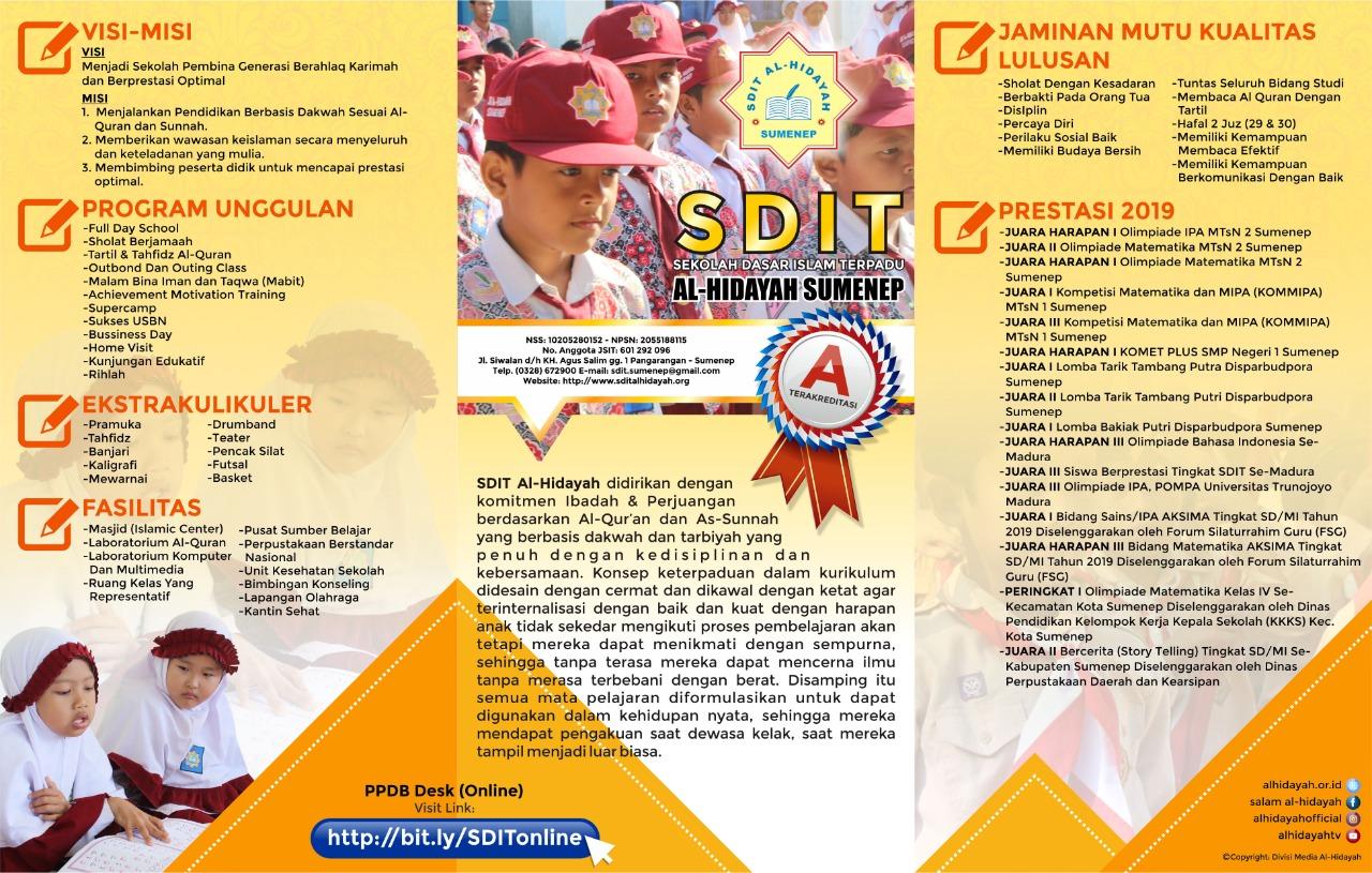 Informasi PPDB 2020 SDIT AL HIDAYAH SUMENEP