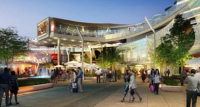 khu trung tâm thương mại tại dự án chung cư Dream Land Plaza