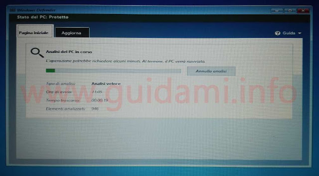 Windows Defender Offline scansione al boot di Windows 10 Anniversary Update