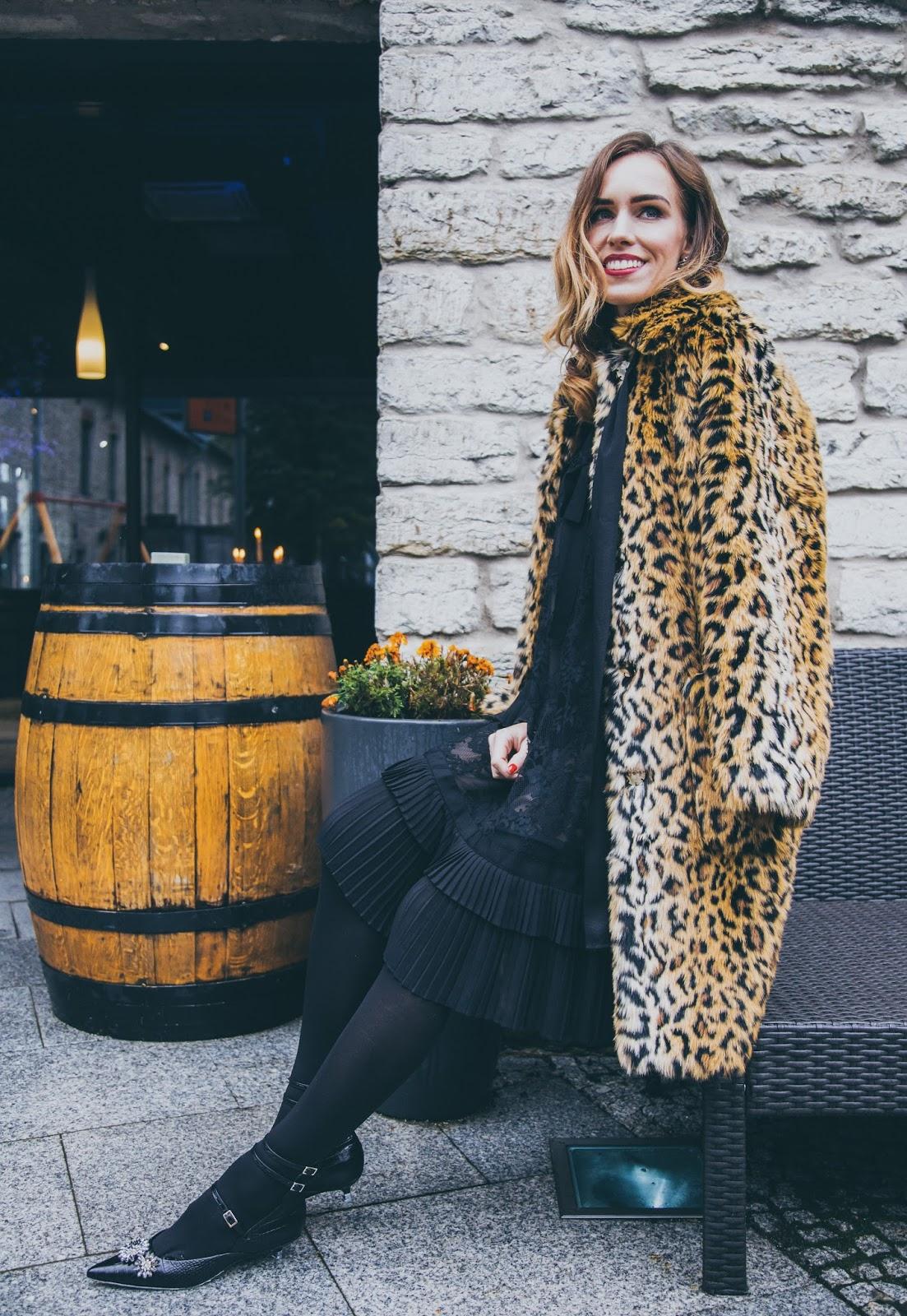 erdem x hm collaboration collection leopard coat outfit