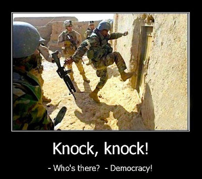 Funny Army Knock-knock Democracy Joke Picture