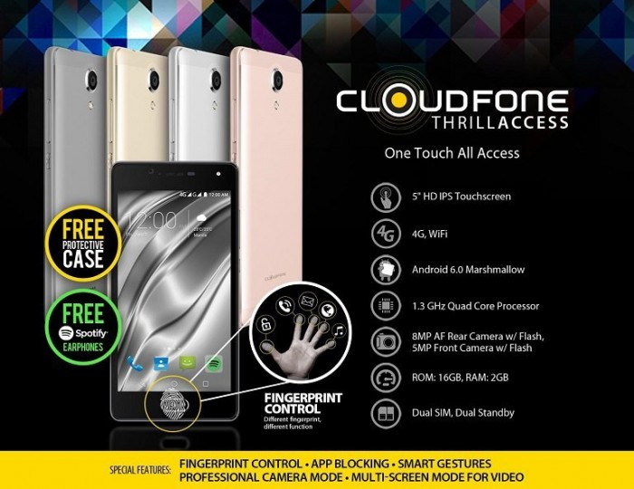 Cloudfone Thrill Access: Price, Specs & Availability