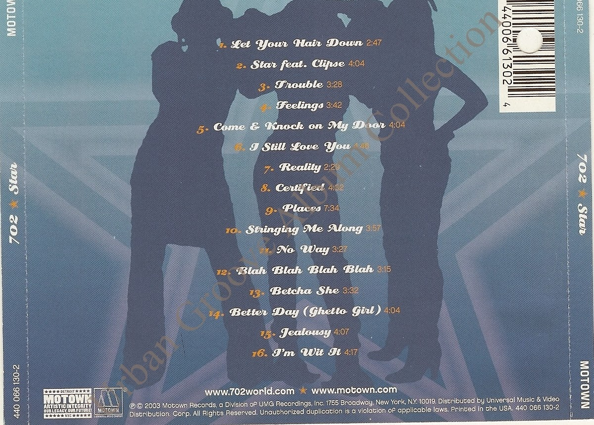 702 Star 2003 R Amp B Group Urban Groove Album Collection