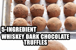 EASY RECIPE, 5-INGREDIENT WHISKEY DARK CHOCOLATE TRUFFLES