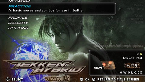 TEKKEN HYBRID PROJECT VERSION 1.5 STATUS: COMPLETE
