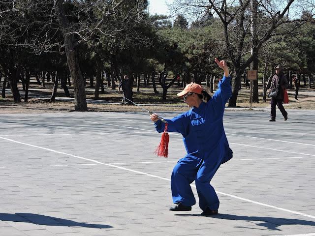 Kung fu Visite du temple du vent à Pékin