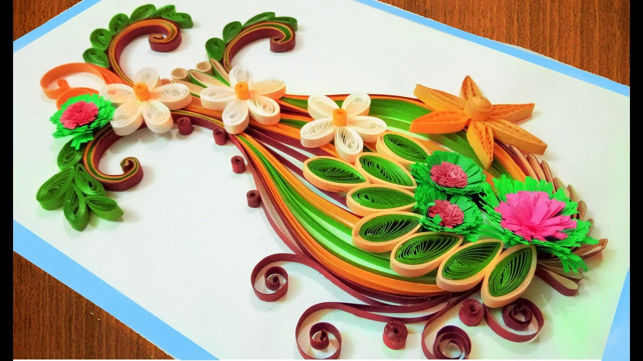 Flower vase type quilling greeting card paper quilling flower vase type quilling greeting card m4hsunfo