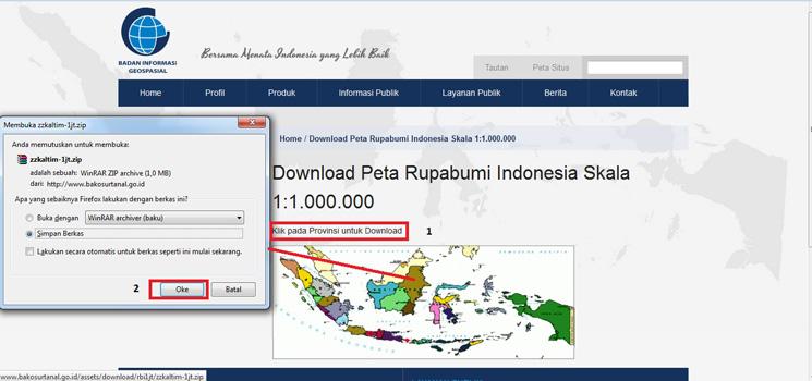 Cara Download Peta Indonesia di Badan Informasi Geospasial (BIG)