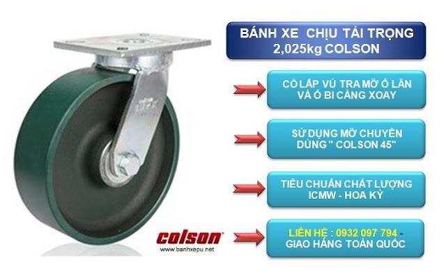 Bánh xe đẩy hàng Colson chịu tải nặng 2,025kg| 7-8679-279 www.banhxepu.net