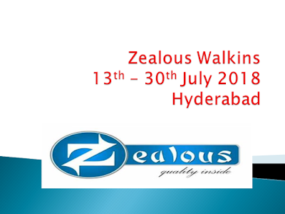 Zealous Service Walkins For Customer Support Service Executive At Hyderabad | 13th - 30th July 2018
