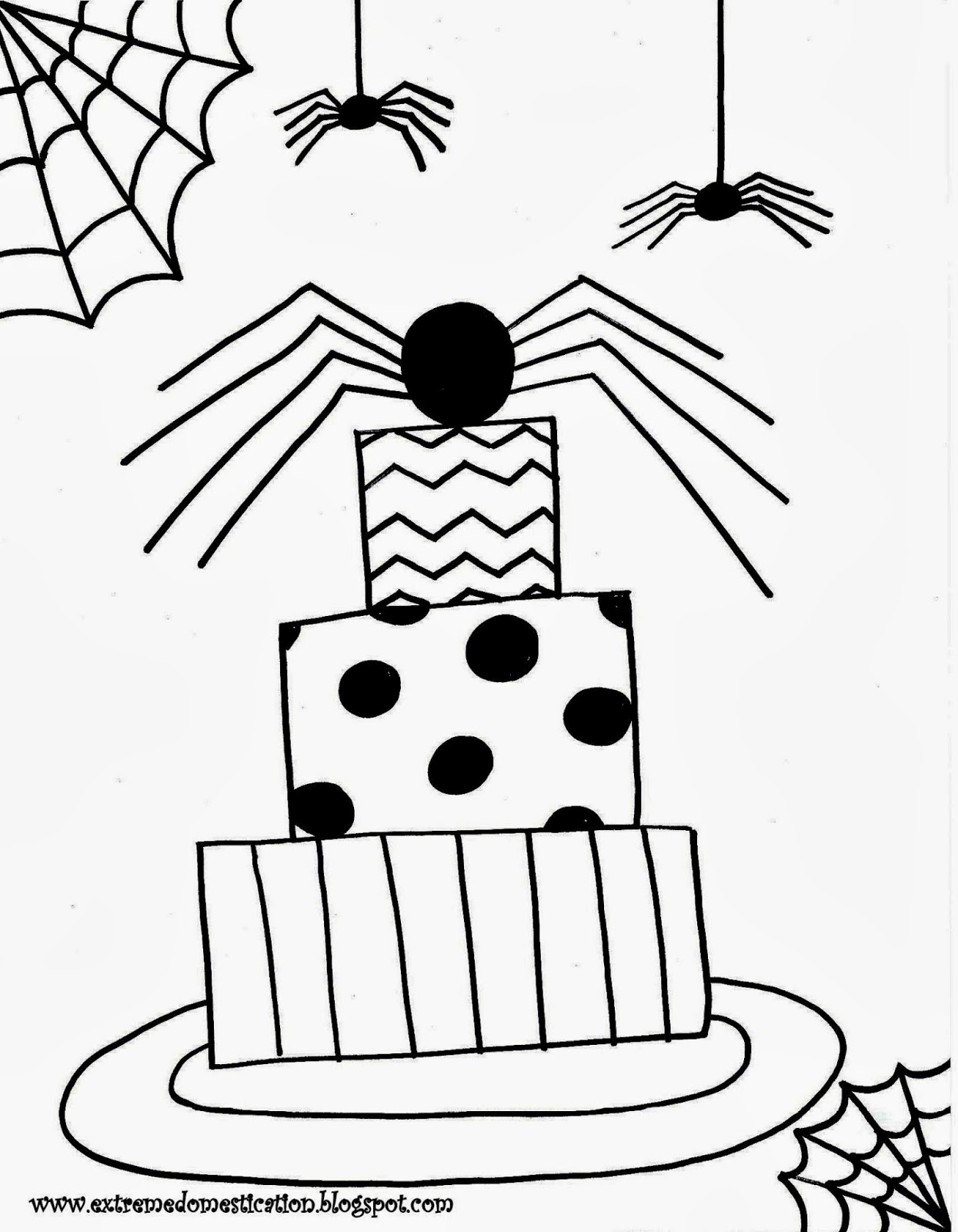 Extreme Domestication: Halloween Coloring Pages