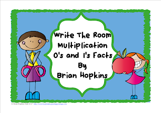 FREEBIE Write The Room Multiplication 0's and 1's Facts