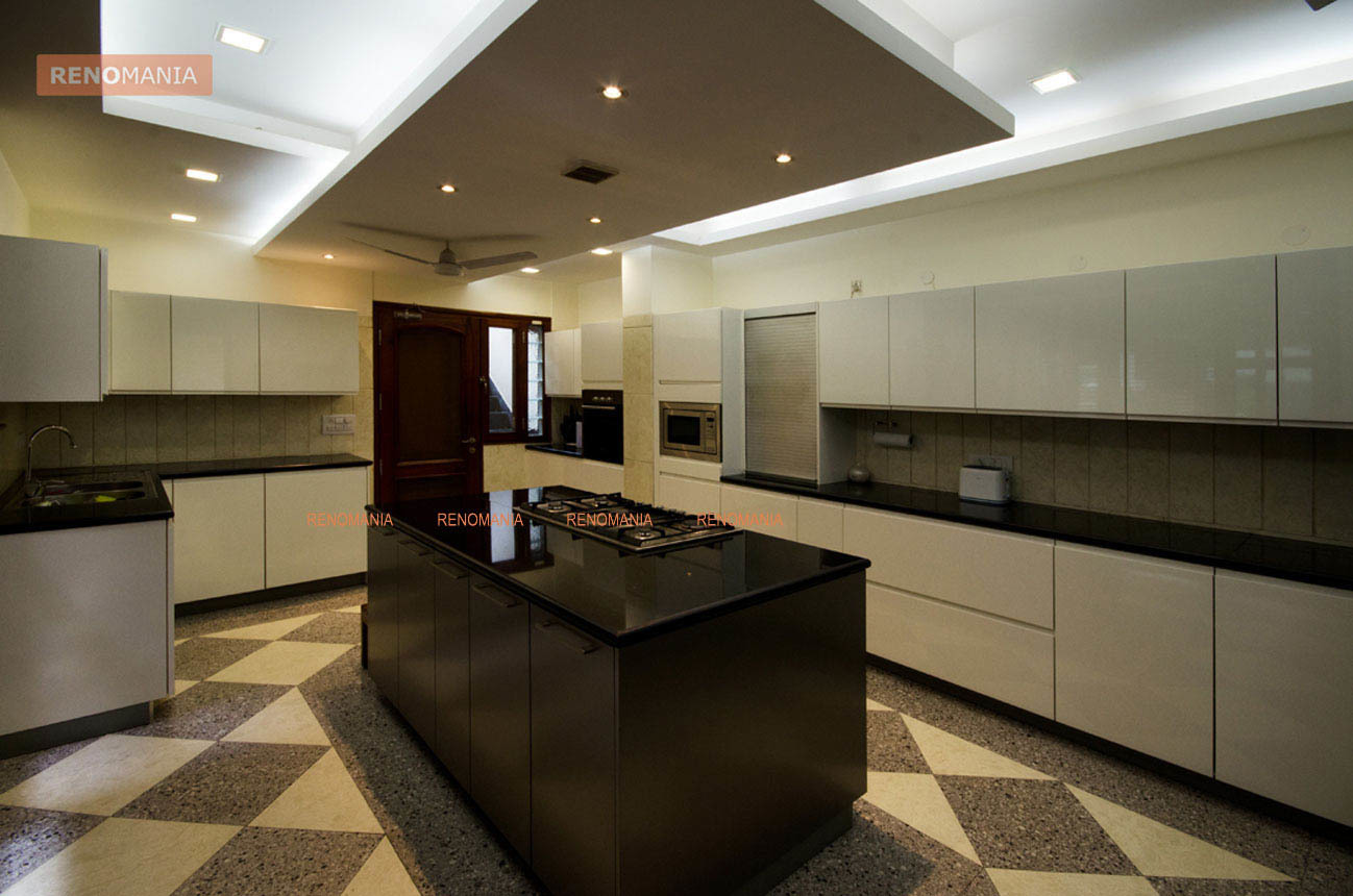 25 gorgeous kitchens designs with gypsum false ceiling & lights