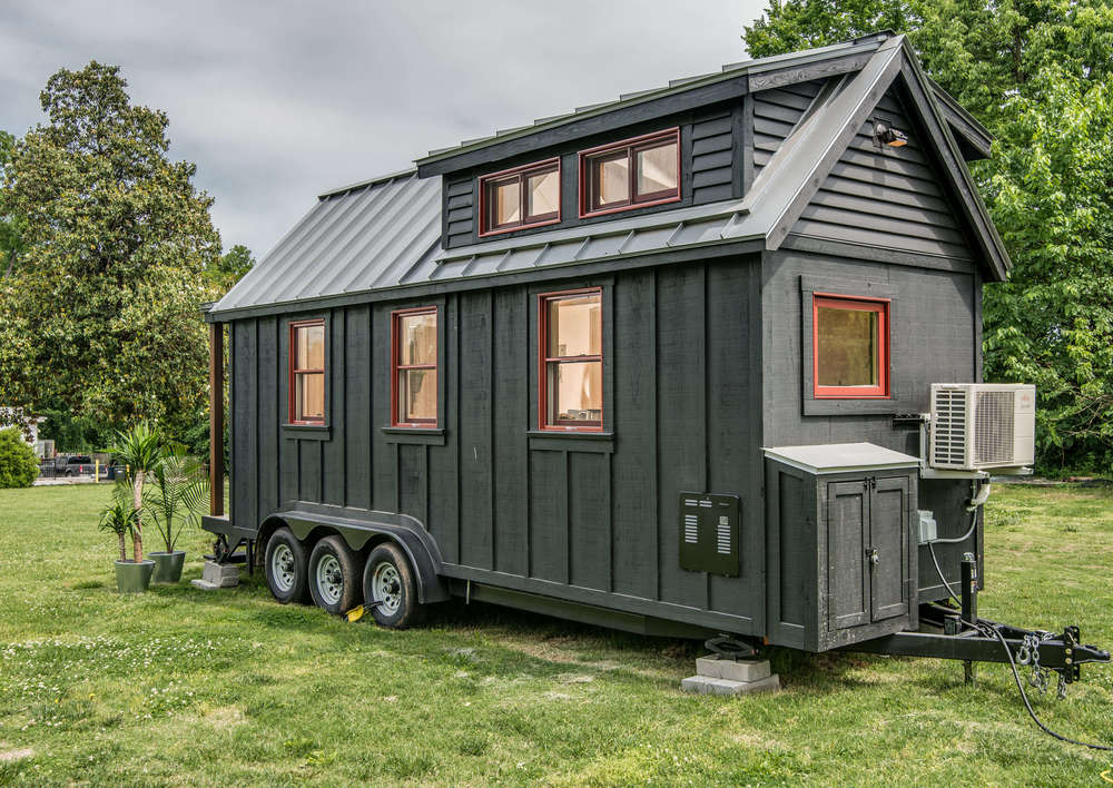 Tiny house town the riverside by new frontier tiny homes for Mini house plans