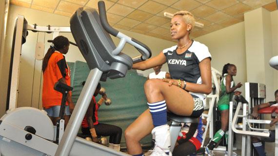 Kenyan Athlete on the gym