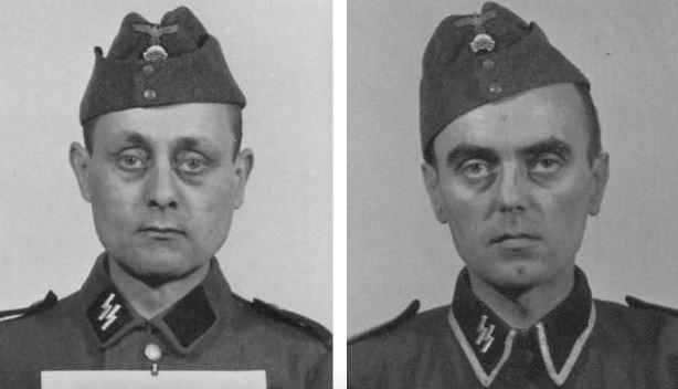 Retratos de los guardias nazis de Auschwitz
