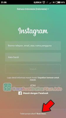 membuat akun instagram lewat hp