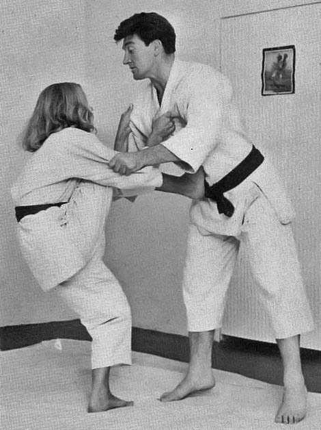 Honor Blackman does Karate  vintage everyday