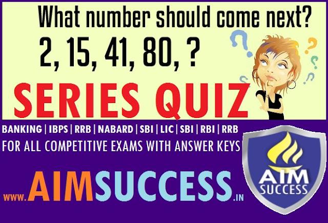 Quant : Series for SBI Clerk Exams