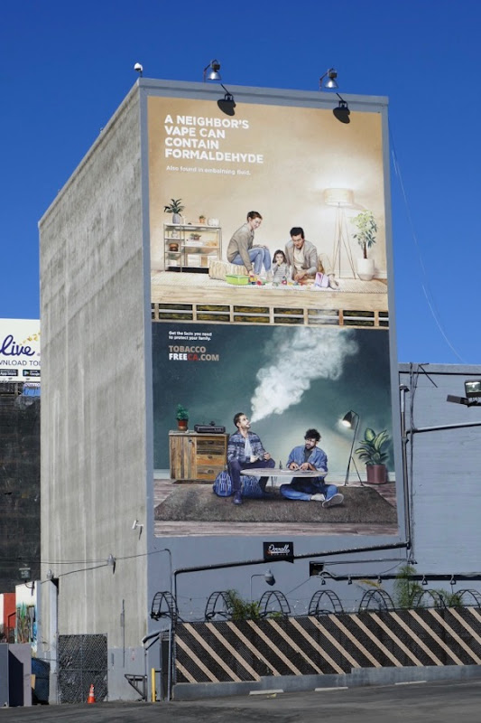 Neighbors vape can contain formaldehyde billboard