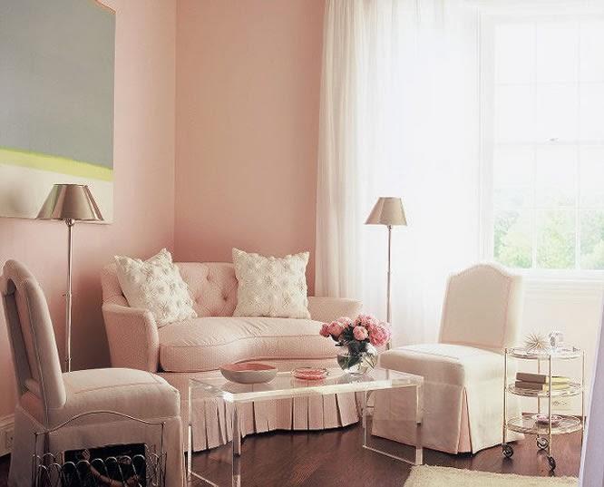 Decorar sala rosa