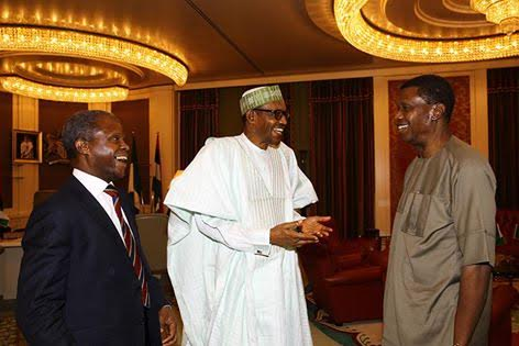 Redeemed Church General Overseer Daddy Adeboye pay a courtesy visit President Buhari - State House