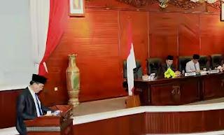 DPRD Muba Sampaikan Rekomendasi LKPJ TA 2015