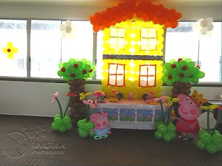 DECORACION PEPPA PIG RECREACIONISTAS MEDELLIN 4