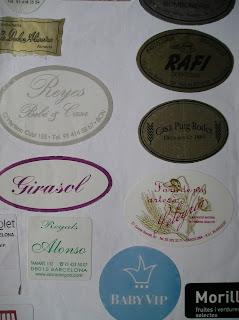 etiquetas impresas