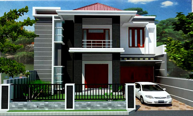 35 Desain Rumah Minimalis 2 Lantai Bentuk L 2020 | Galgado