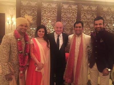 suresh-raina-wedding-Anupam-kher-irfan-pathan-MS-Dhoni-and-Sakshi