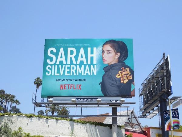 Sarah Silverman speck of dust billboard