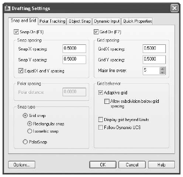drafting setting