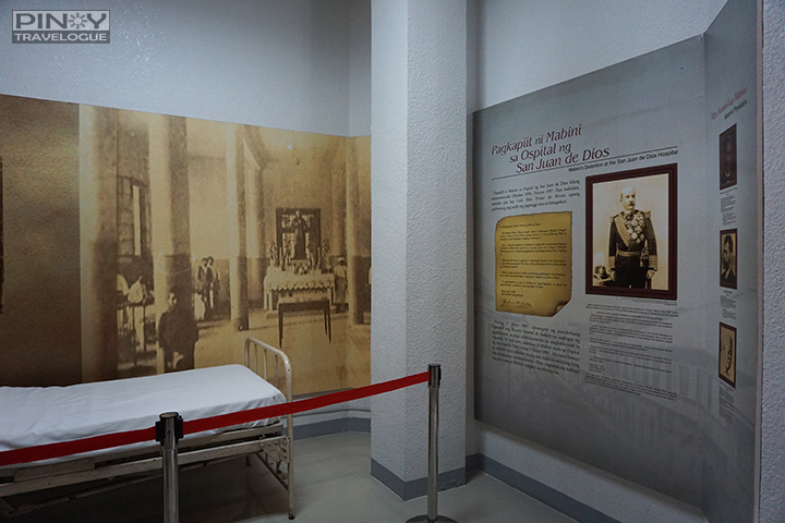 Mabini's hospital bed