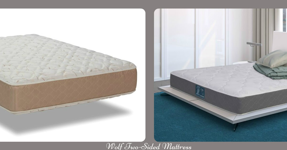 A New King Two Sided Wolf Mattress & Latex Topper for a
