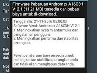 Update Firmware OTA (Over the Air) Andromax A V12.1
