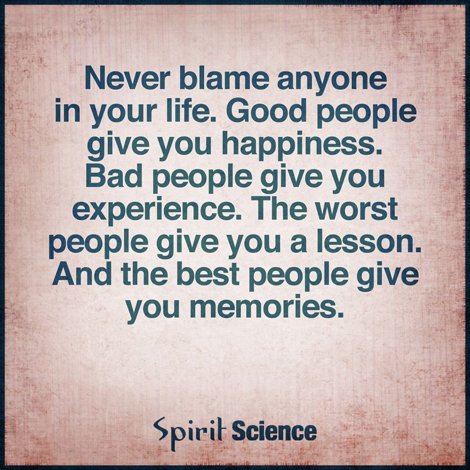 Good People Quotes: Never Blame Anyone In Your Life. Good People Give You