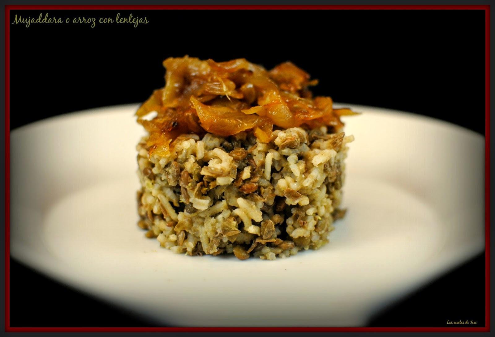 Mujaddara o arroz con lentejas tererecetas 03