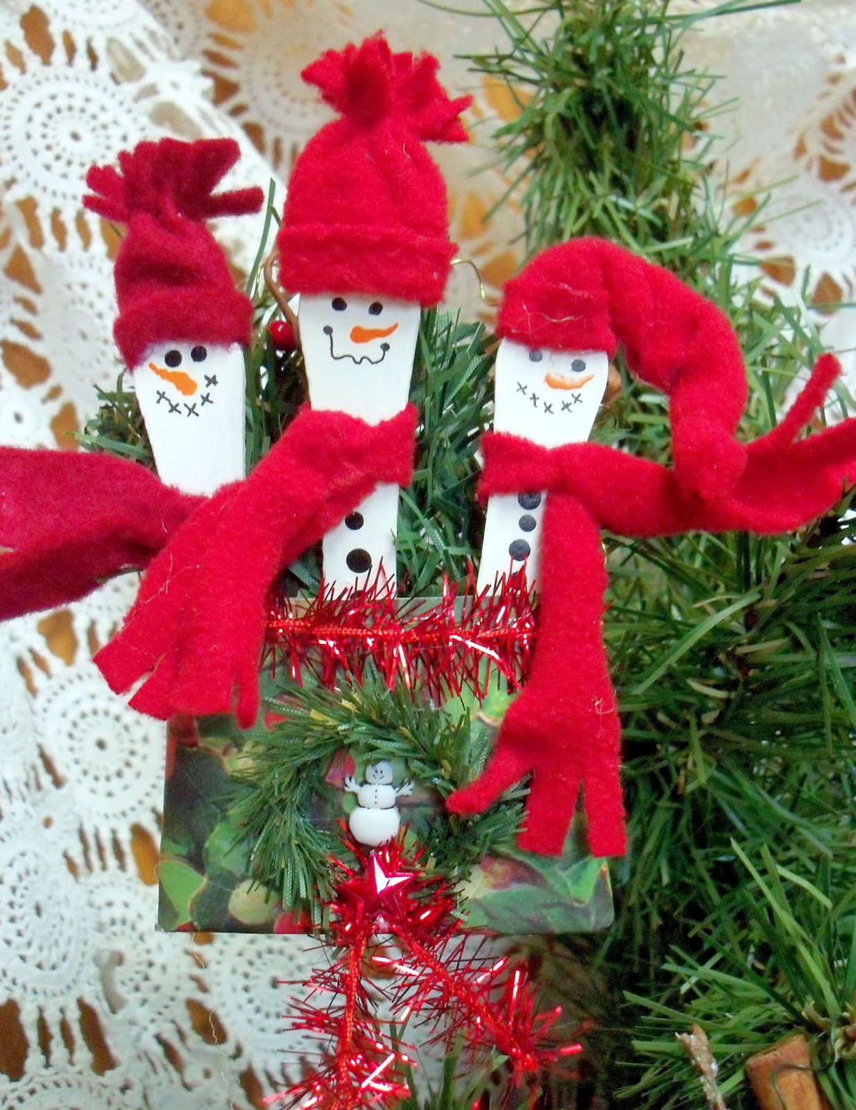 Popsicle Stick Snowmen Fast And Easy