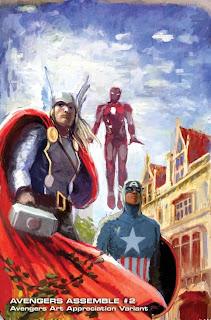 Especial: Vingadores ganham capas que homenageiam obras de arte.| HQ 23