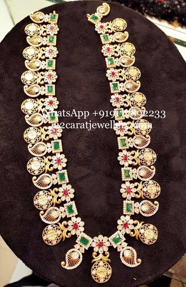 Kundan and Stones Silver Mango Necklaces