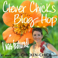 I was featured at The Chicken Chick's Clever Chicks Blog Hop