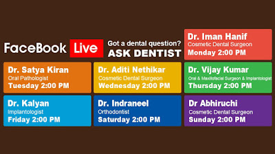 Partha Dental Hosting Facebook Live Event.