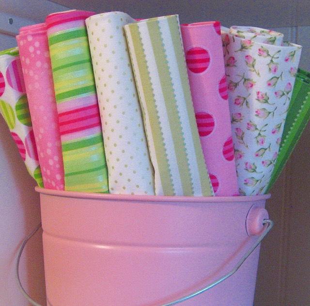 Preppy, pink and green fabric by Lakehouse Dry Goods