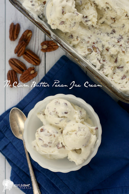 No-Churn Butter Pecan Ice Cream inspired by Butter | #FoodnFlix